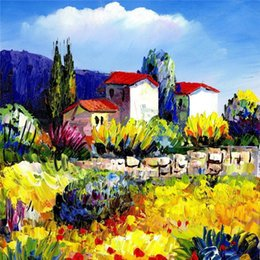 Wholesale Painting Garden Home - New diy diamond painting cross stitch kits resin pasted painting full round drill needlework Mosaic Home Decor scenery garden YY0002