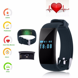 Wholesale Black Health Bracelet - Original DFit D21 Heart Rate Monitor Smartband Waterproof Swim Smart Band Bracelet Health Fitness Tracker for Android iOS