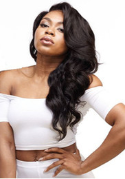 Wholesale Swiss Color - Remy Hair Lace Wigs High Density Natural Color Body Wave For Black Women Best Quality Swiss Lace Wigs Small Medium Large Size Cap