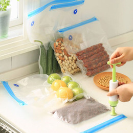Wholesale Vacuum Pumps Bags - Vacuum Sealer Bags For Food Storage With Pump Reusable Food Packages Kitchen Organizer Saran Wrap Plastic Bags 6 pcs set ZA3171