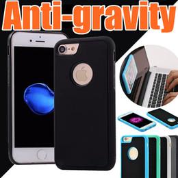 Wholesale Gravity Anti - E 2017 Anti-gravity Case For iphone 7 6 6s plus 5 5s SE s6 s7 S8 edge Magical Anti gravity Nano Suction Antigravity Phone Cases A-SW