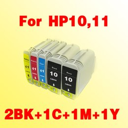 Wholesale Ink Hp Inkjet Cartridge - 5x ink cartridges compatible for hp10 for hp11 for hp 10 11 Business Inkjet 1000 1100d dtn 1200 D
