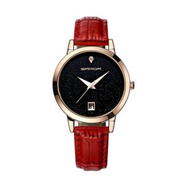 Wholesale Soft Calendar Watches - New Fashion Watches Women Star Soft Leather Watchband Waterproof watch Calendar Casual Clock Women Quartz Watch drop shipping