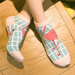Wholesale Flamingo Socks - Wholesale-2016 New Women's candy colors Cute Flamingo Fashion Brand Cotton Socks For Women Girls Free Shipping