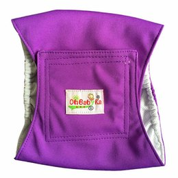 Wholesale Clean Up - OhBabyKa Washable Male Dog Diapers Reusable Stylish Dog Belly Bands of Durable Male Dog Wraps Premium Doggie Diapers Male 3 Size