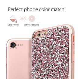 Wholesale Luxury Rhinestone Iphone Cases - Premium bling 2 in 1 Luxury diamond rhinestone glitter back cover phone cases For iphone 7 5 6 6s plus case Package available