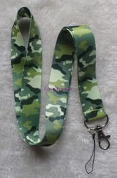 Cordones de camuflaje online-20 piezas de camuflaje Imprimir clave lanyards id badge holder llavero correas para teléfono móvil Envío Gratis