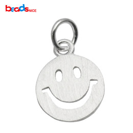 Smiley gesichter charme online-Beadsnice round smile face 925 sterling silver charms smiley symbol DIY jewelry finding best birthday gifts ID 35630
