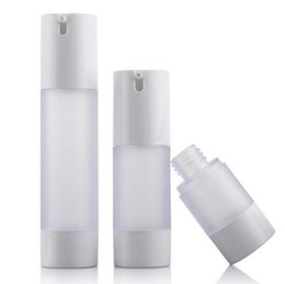 Wholesale Cosmetic Airless Pumps - 15ml 30ml 50ml airless bottle frosted matte vacuum pump bottle lotion bottle used for Cosmetic Containe fast shipping