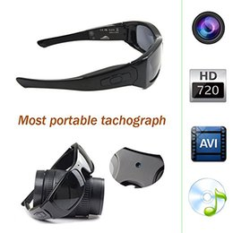 Wholesale Bluetooth Spy Camera Hd - Built-in 8GB HD 720P Spy Eyeglasses Camera Hidden Wearable Sunglasses Camera DVR Nanny Camera DV With Bluetooth..