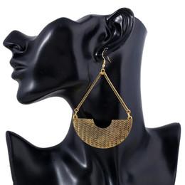 Wholesale Dangle Gold Silver Earring - Flower Vintage Dangle Earrings Silver Plated Women Alloy Bohemia Big Simple Joker Maxi Maxi Gold Color Drop Earrings Fashion Jewelry Ethnic