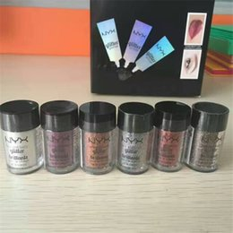 Wholesale Wholesale Powder Primers - New NYX Glitter Primer Cream Concealer Cream NYX Glitter Face and Body Shimmer Powder 6 colors Eyeshadow Powder IN STOCK