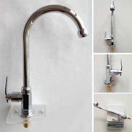 Wholesale Polished Brass Kitchen Sprayer - Wholesale- Kitchen Faucet Single Handle Modern Kitchen Mixer Tap Hole Dual Sprayer Deck Mounted