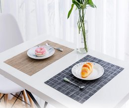 Wholesale Food Cushion - Hotel high-grade meal cushion PVC meal mat fashionable western style Western-style food cushion back word series European style