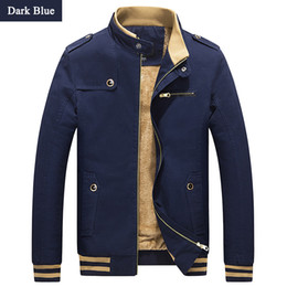 Wholesale men s large jackets - Wholesale- Mens 2016 Large Size Winter Casual Brand Jackets Male Solid Stand Collar Slim Fit Overcoat Homme Warm Coats Plus Size M-4XL