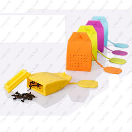 Wholesale Tea Infusers Strainers Wholesale - New Bag Shaped Tea Infuser Popular Bag Style Silicone Tea Strainer Herbal Spice Filter Diffuser Kitchen Home slimming tea Infusers