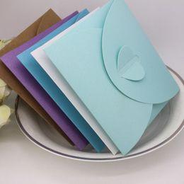 Wholesale Dvd Envelopes - 13*13cm Kraft Paper DVD Sleeve CD Packaging Box Cases Packing Cover Envelopes For Party Wedding Baby Shower ZA5135