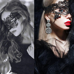 Wholesale Lace Home Dress - Wholesale-Free Ship 8 Styles Sexy Lady Black Animal   Lace Floral Mask Cutout Eye Mask Masquerade Masks   Home Party Fancy Dress Costume