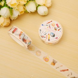 Wholesale Labels Cosmetics - Wholesale- 2016 1.5cm*8m Cosmetic 01 washi tape DIY decoration scrapbooking planner masking tape adhesive tape label sticker stationery
