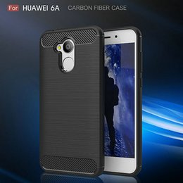 Wholesale Huawei Honor Soft Case - Carbon Fiber Case for Huawei Honor 6A Nova 2 Plus Y3 2017 Cover Soft TPU Shockproof Protective Mobile Phone Bags