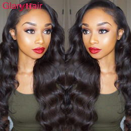 Wholesale Super Cheap Peruvian Hair - Super Nice Glary Body Wave Hair Weaves Virgin Brazilian Human Hair Extensions Mix Order Real Cheap Remy Human Hair Bundles 1B Natural Color