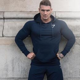 Wholesale Topcoat Hoodie - Wholesale- Autumn new Crossfit Mens pullover Fashion leisure fitness Hoodies Men jackets Sweatshirts Bodybuilding sportswear topcoat