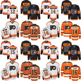 Wholesale Bobby Clarke Jersey - 2017 Stadium Series 100th 3rd Men's Philadelphia Flyers 14 Sean Couturier 12 Michael Raffl 15 Del Zotto 16 Bobby Clarke Hockey Jerseys