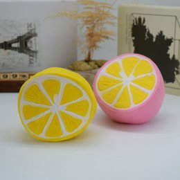 Wholesale Science Sale - New hot sell PU slow back toy squishy half lemon pressure relief toy factory direct sale