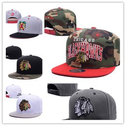 Wholesale Hiphop New Style - Wholesale Cheap New style Arrived Chicago Blackhawks gorras planas Hat Baseball bones aba reta Snapback Hockey Cap Adjustable Hiphop