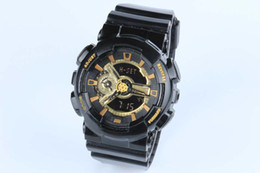 Wholesale Watches Wholesale Bronze - 10pcs lot sports Men Watches ga110 G Display army military shocking watches ga110 men Casual LED Fashion Watches