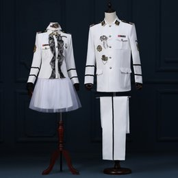 Wholesale Theatrical Dresses - Wholesale- ( jacket +pants )male costume A couple of photo studio photos and theatrical costumes in the Navy Dress band uniform sailor suit