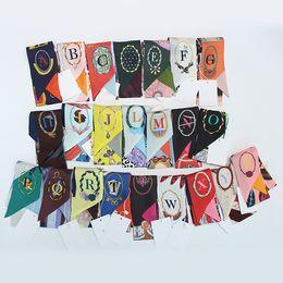 Wholesale Capital Silver - Capital Initials Women Silk Twilly Twillies for handbags luxury brand Bag Scarf Hat ribbon Headband Scarves Headtie 100*6cm