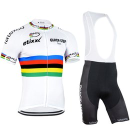 Wholesale Mtb Shirts - quick step etixx men Cycling Jersey Bike Clothing Mtb Ropa Ciclismo Hombre Breathable cycle Sportwear Shirts Short Sleeve Set hombre