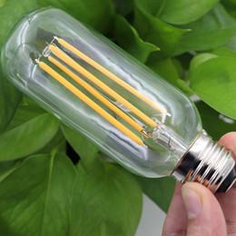 Wholesale Emergency Led E27 4w - Wholesale- 2016 NEW Vintage LED Edison Bulb E27 220V Antique COB LED Filament Light 2W 4W 6W T45 Edison Lamp 360 Degree Bulb