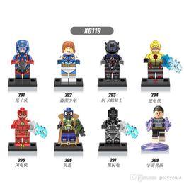 Wholesale Bane Toys - 8pcs lot DC Super Heroes Cosmic Boy Lightning Lad Arkham Knight Atom Bane Flash Mini Action Figure Building Block Toy Set XINH X0119
