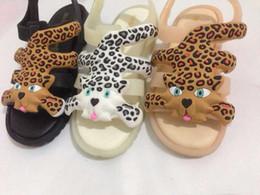 Wholesale Girls Roman Sandals - Mini leopard Roman Sandals Boys Girls Sandals Flox Melissa Jelly Shoes Sandals Hollow Breathable Children Comfort Shoes