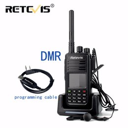 Wholesale vhf uhf transceivers - Wholesale- DMR Radio Retevis RT3 Digital Walkie Talkie VHF(UHF) 5W 1000CH Encryption CTCSS DCS Scan SMS Ham Radio Transceiver Two Way Radio