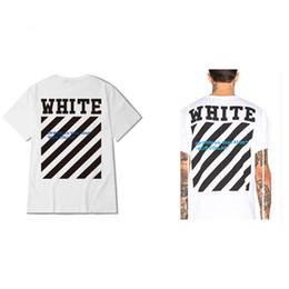 Wholesale C Collar Neck - OFF White Blue Collar Short Sleeve Men T-Shirt Kanye West Hip Hop Men T Shirt Off-White C O Virgil Abloh Plus Size