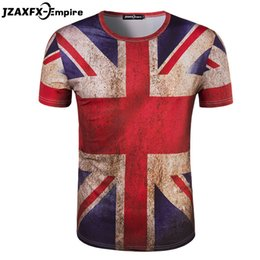 Wholesale uk t shirt printing - Wholesale- camisetas masculina Mens Union Jack T Shirt Short Sleeve O Neck Men Print UK Flag T-shirt retro man shirts camiseta masculina