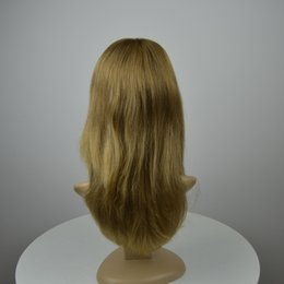 Wholesale More Fine - Customized European virgin hair Jewish wig blonde top quality human softest and finest hair Kosher wigs for women with lace front
