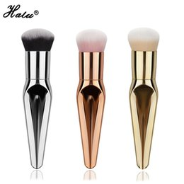 Wholesale Beauty Essentials - Halu New Big size Professional Beauty essential tool Loose powder makeup brushes Foundation make up Brush Super soft hair maquiagem