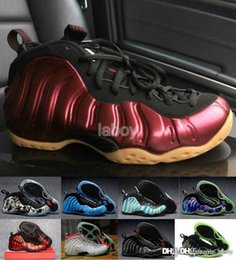 Wholesale Cheapest Low Cut Basketball Shoes - 2017 Cheap Penny FOamPOSIteS One galaxy Mens Basketball Shoes Red High Quality foamPOSITE Sports Shoes hardaway Penny Sneakers US 7-12