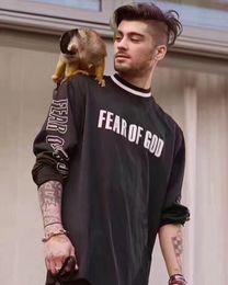 Wholesale Long Sleeve T Shirt Top - Fear Of God T Shirt Men FOG Justin Bieber Clothes Fearofgod t-shirts Nomad Top Tees Fashion Fear Of God T Shirt