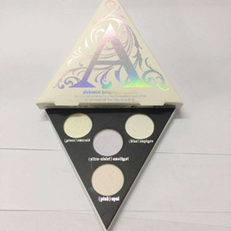Wholesale Real Eyes - Kat Von D Makeup 4 Colors Face & Eye Highlighter Palette Long-lasting Alchemist Holographic kat von d Brand Cosmetics Real Photos In Stock