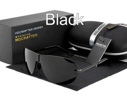 Wholesale Beach Sunglasses Aviator - HDCRAFTER Hot Sunglasses Man 2017 Fashion Polarized Driving Outdoor Sun Glasses for Men Brand Designer Aviator Sunglasses