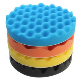 Wholesale Car Polish Pad Set - Wholesale- 4Pcs Set 3 4 5 6 7 Inch Buffing Polishing Sponge Pad Kiit For Car Auto Polisher