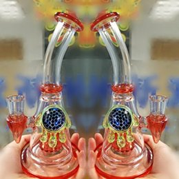 Wholesale Custom Bongs - New Design Glass Water Pipes Thick Glass Bongs 100% Real Photo Handmade Hookahs Safe Shipping smoking water bongs custom made