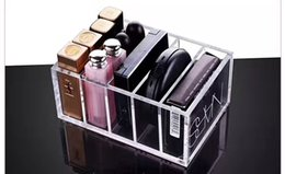 Wholesale Drawer Organizer Acrylic Box - 5 Drawer Clear Acrylic Minimalist Style Makeup Organiser Lipstick Organizer Beauty Care Holder Insert Holder Box