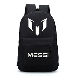Wholesale Boys Sports Backpack - Free gift Barcelona Messi backpacks waterproof jansport designer backpack men sport school bags for teenage boys girls kids