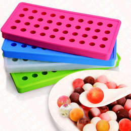 Wholesale Small Silicone Ball - 40 Grid DIY Creative Sphere Small Round And Square Ball Ice Brick Cube Maker Tray Mold Mould Bar Drink Whiskey Ice Tray LLFA